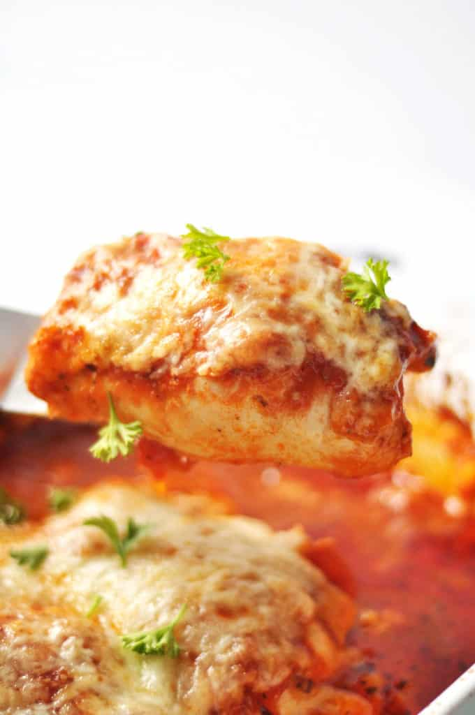Baked Italian Chicken Rolls- sure to be your family's next favorite meal. Easy and delicious low carb, gluten free and primal.