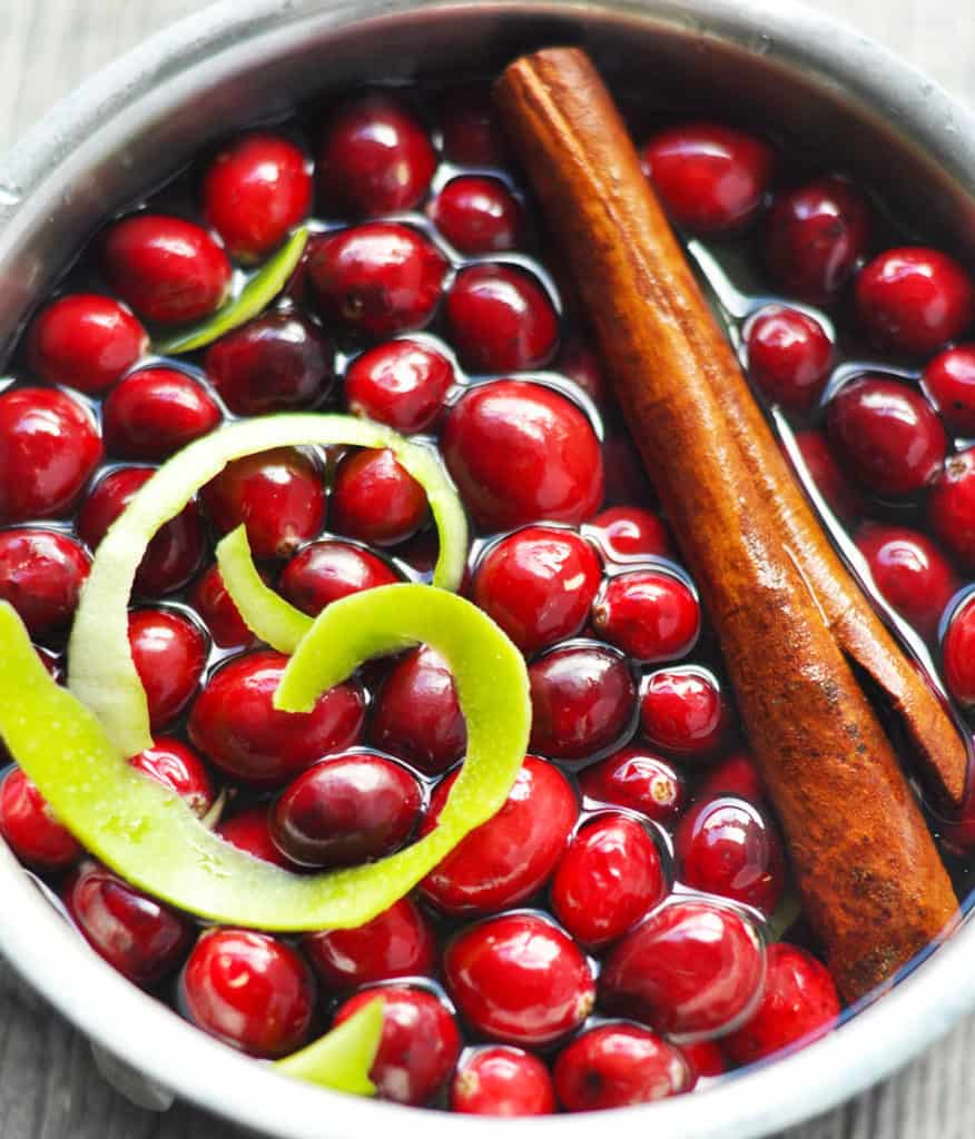 Cranberry apple stove top potpourri- fill your home with the flavor and scent of the holidays with this natural air freshener