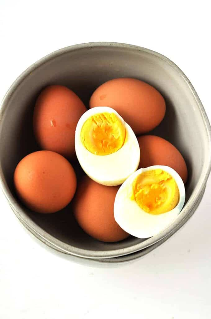 Perfect Easy Peel Hard Boiled Eggs- Easy, fast and perfect eggs that peel every time.