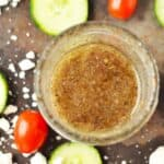 Irresistible Mediterranean flavors combined with zesty red wine vinegar creating an effortless classic Paleo 3 minute Greek dressing.