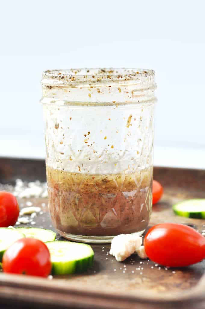 Irresistible Mediterranean flavors combined with zesty red wine vinegar creating an effortless classic Paleo Greek dressing.