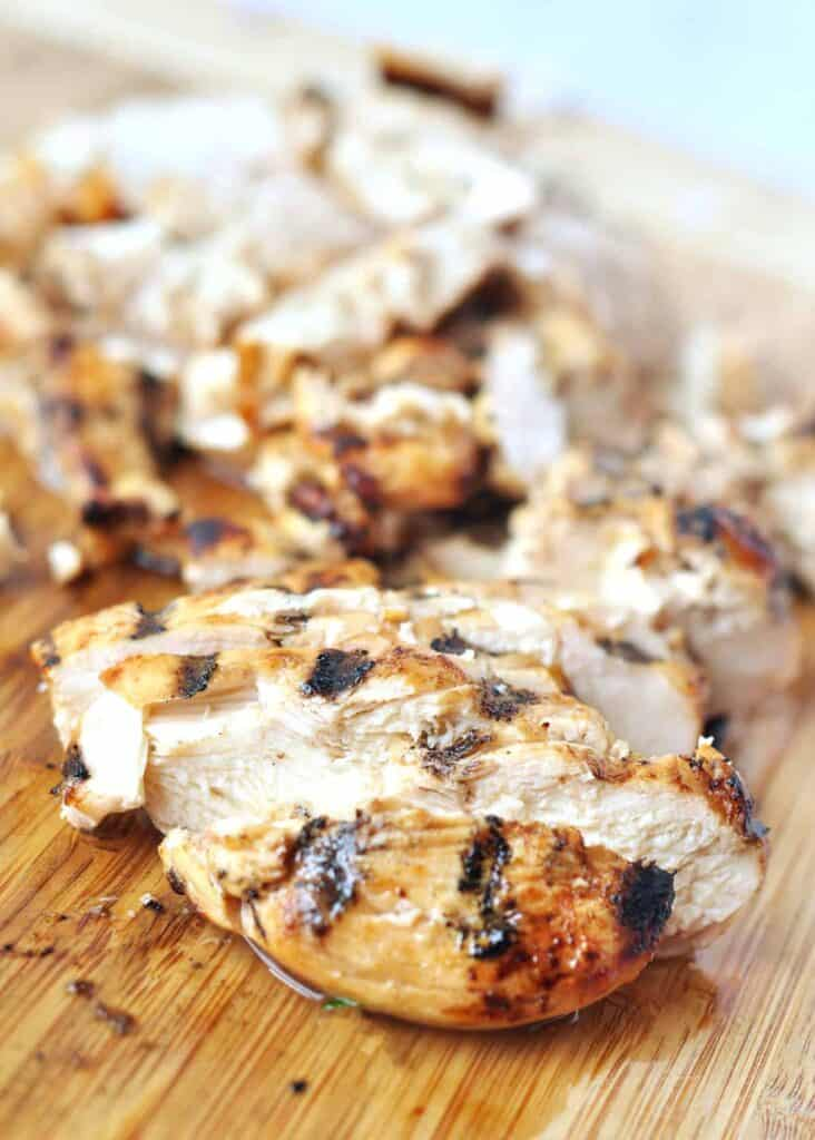 The Best Grilled Chicken for Meal Prep Step up your chicken game with the best grilled chicken for meal prep. A stupid easy 3 ingredient marinade turns boring meal prep chicken into delicious can't stop eating it chicken.