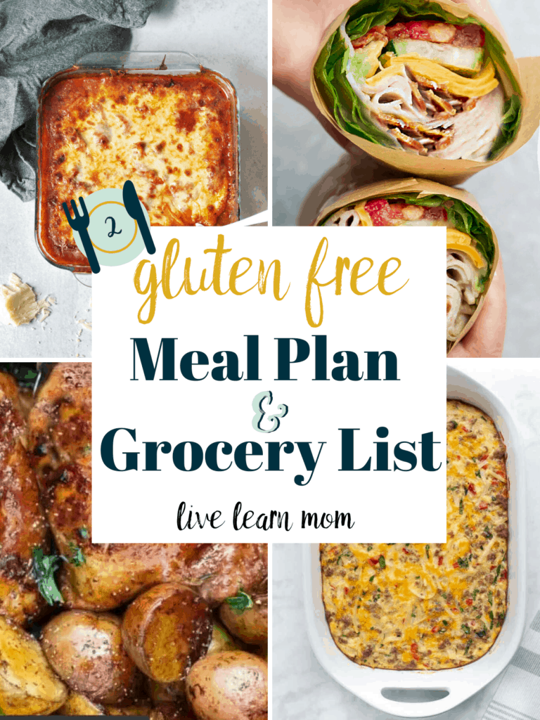 Weekly Gluten Free Meal Plan #2 - Easy family friendly menu plans with shopping list.