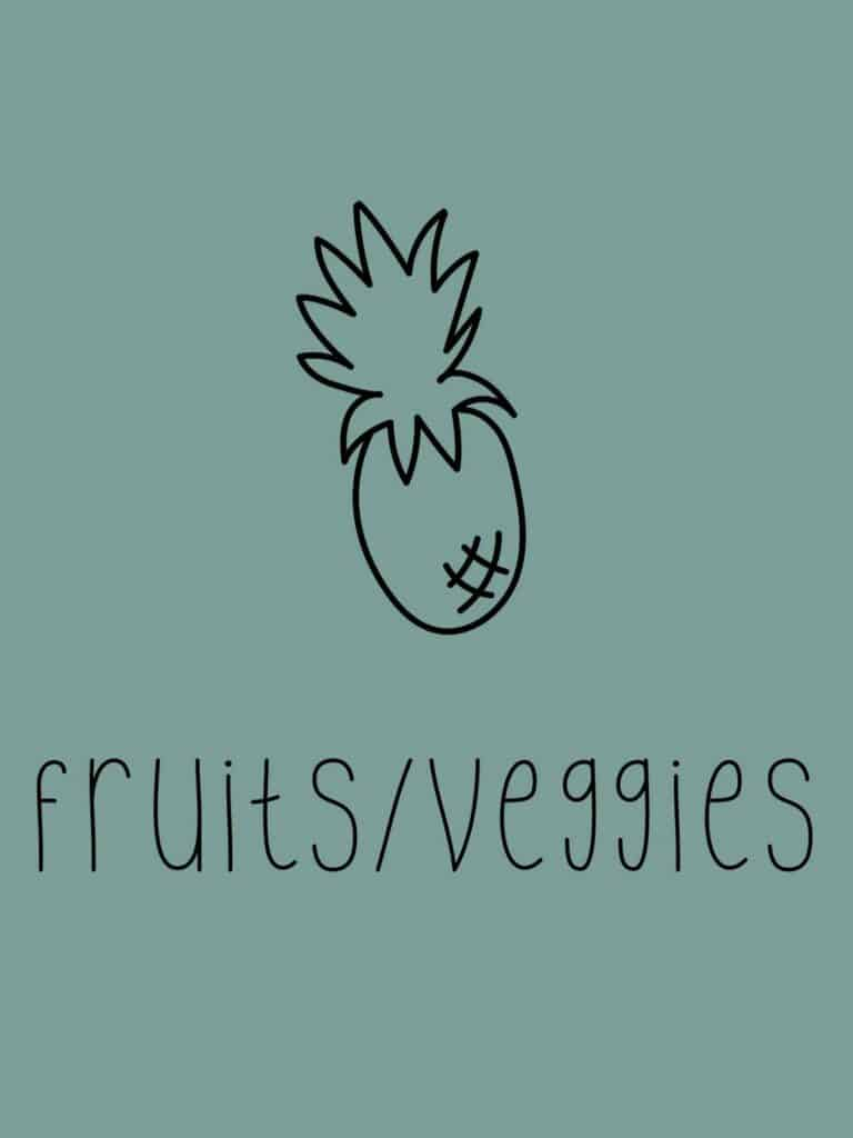 image that says fruits and veggies