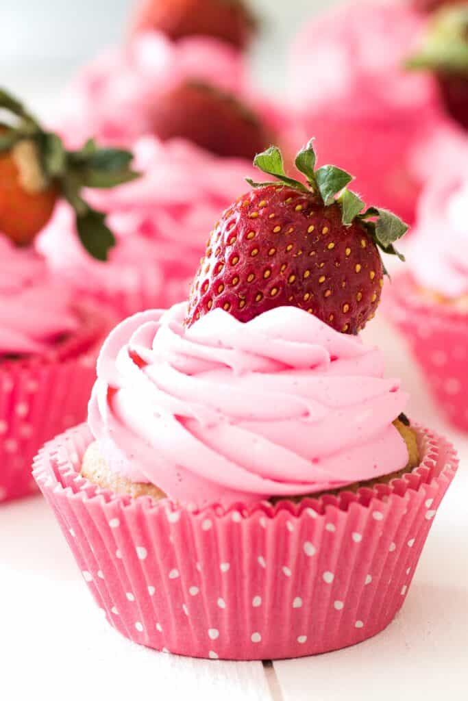 strawberry keto cupcake 19 of the Best Keto Cupcake Recipes