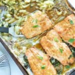 Simple Broiled Salmon and Bok Choy
