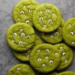 monster cookies layered on top of each other