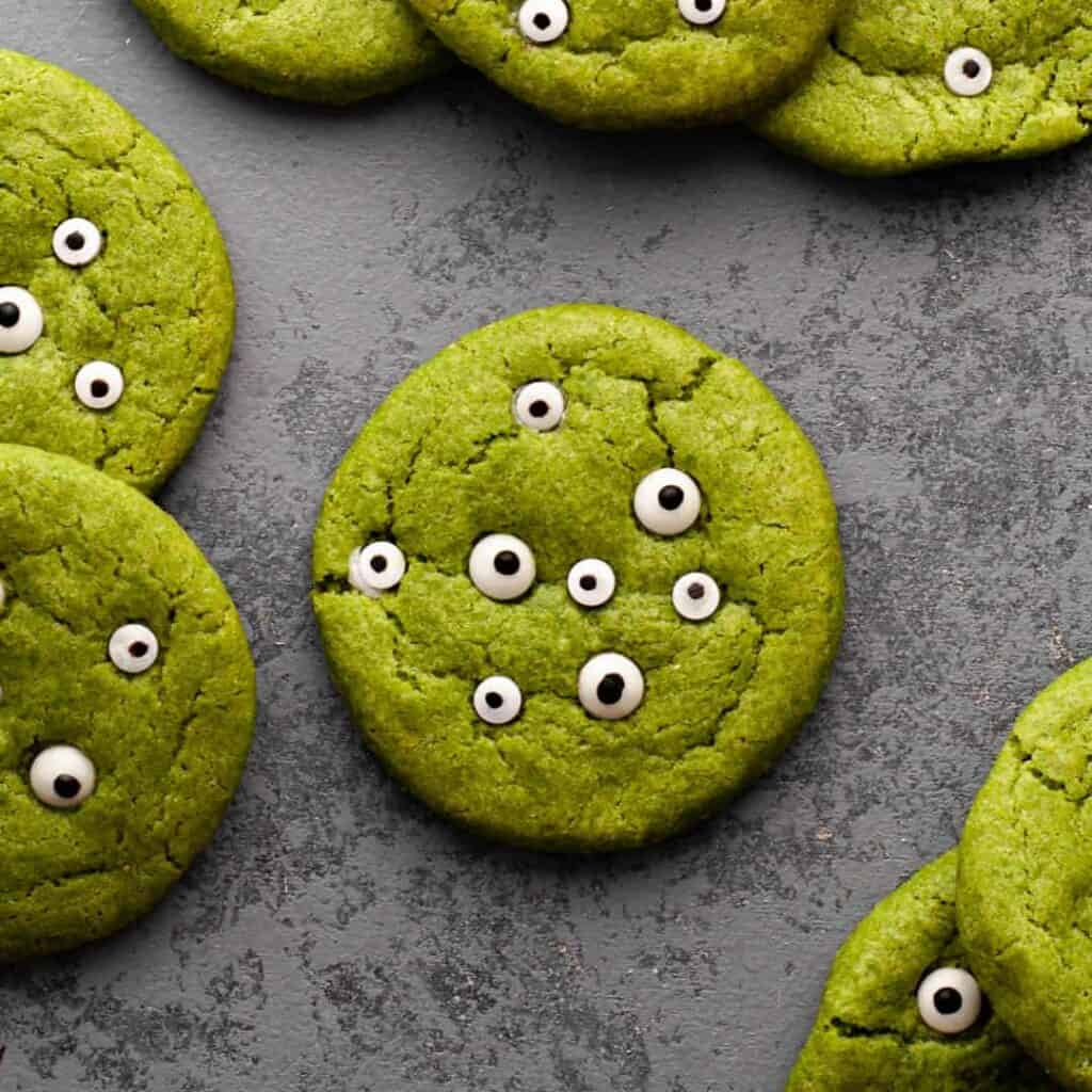 close up of gluten free monster cookie
