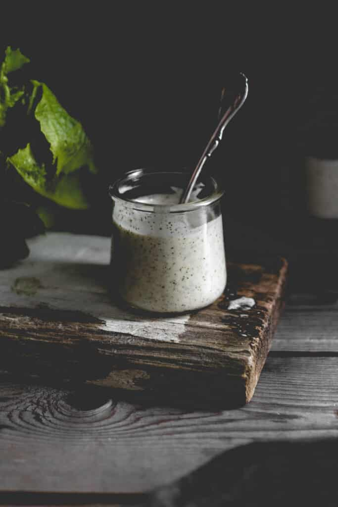 ranch in a jar with a spoon