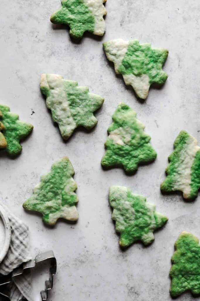 scattered tie dye christmas trees