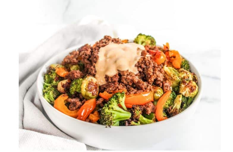 bowl of beef and veggies