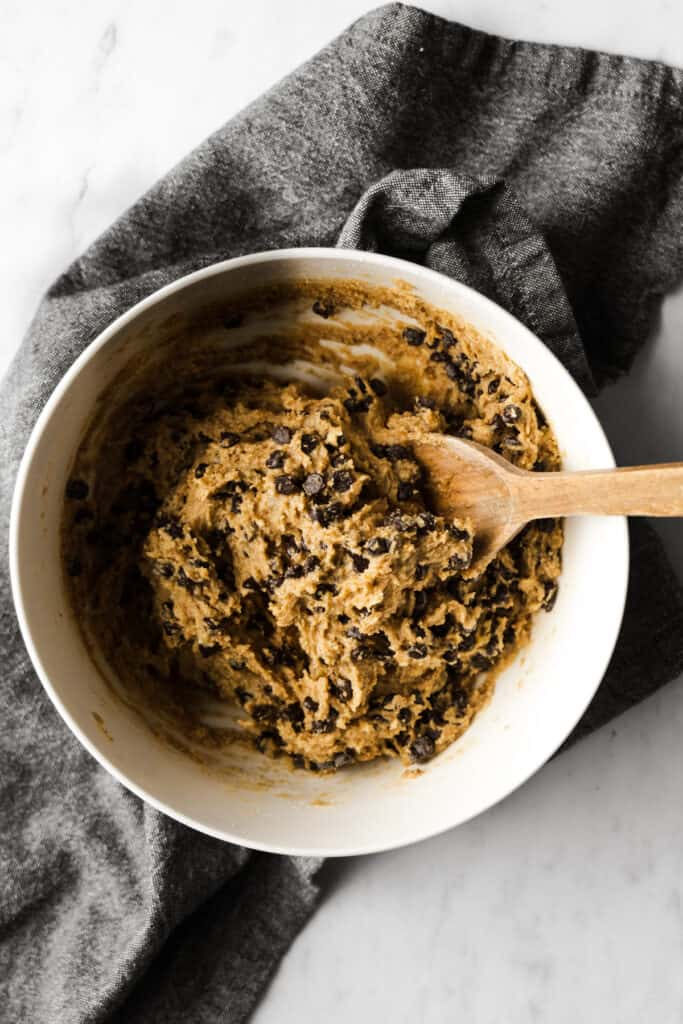 cookie dough with chocolate chips