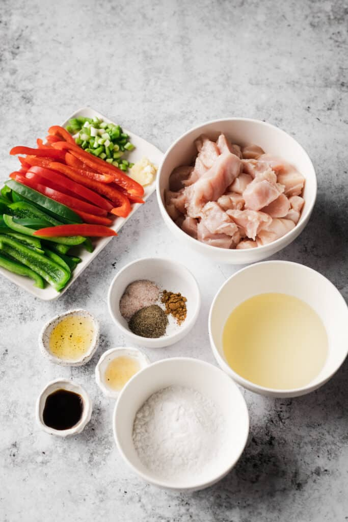 ingredients for salt and pepper chicken