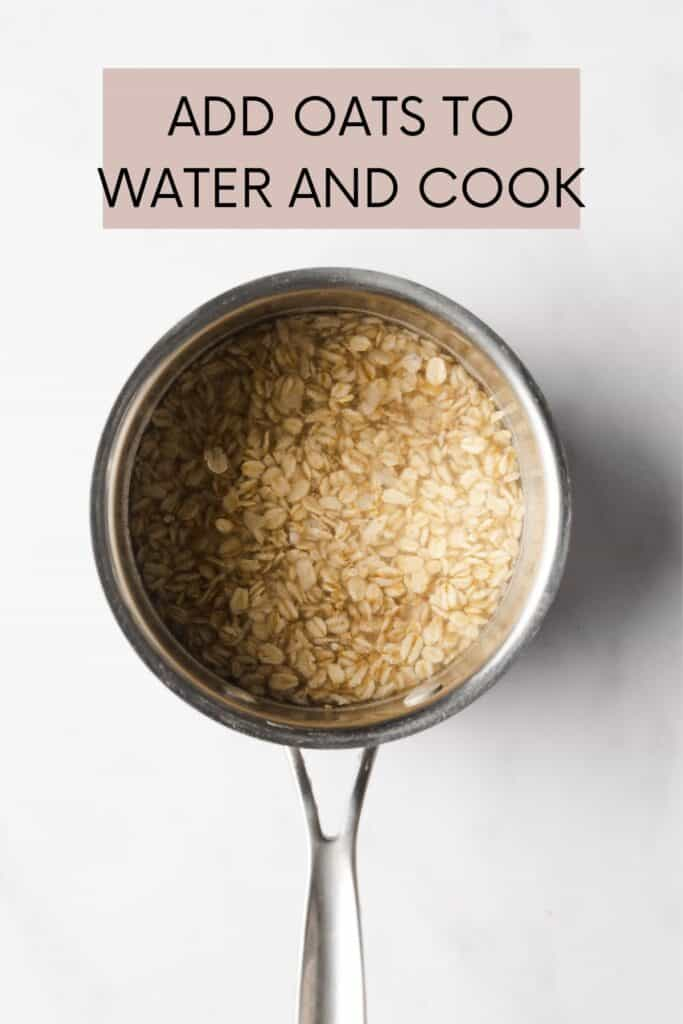 OATS IN WATER AND SAUCEPAN