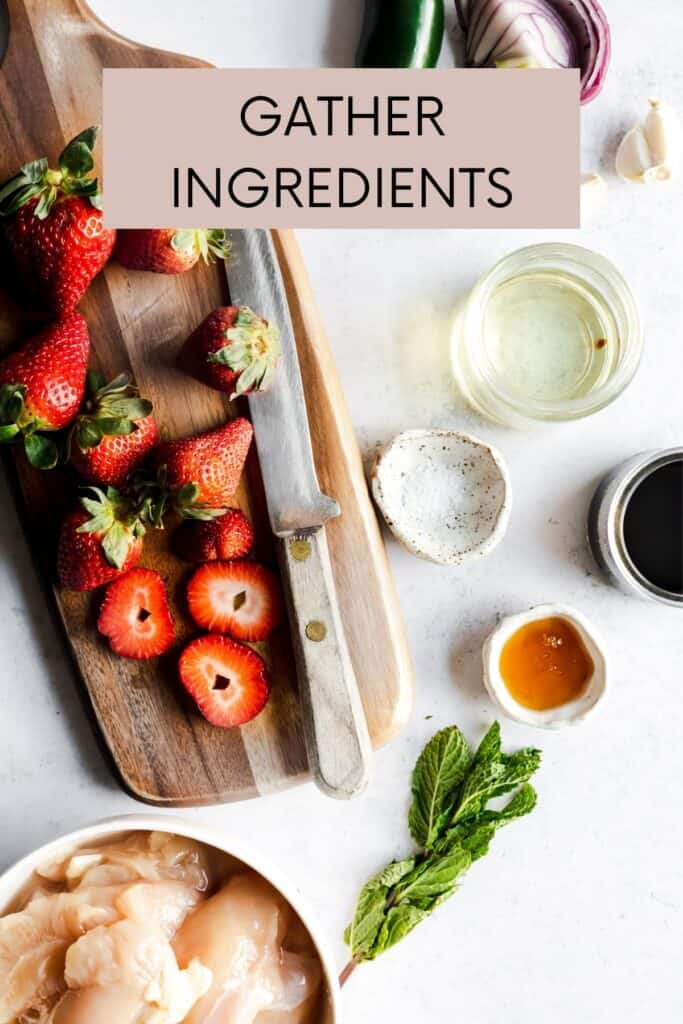 ingredients for the meal