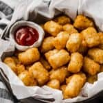 basket of air fryer tater tots