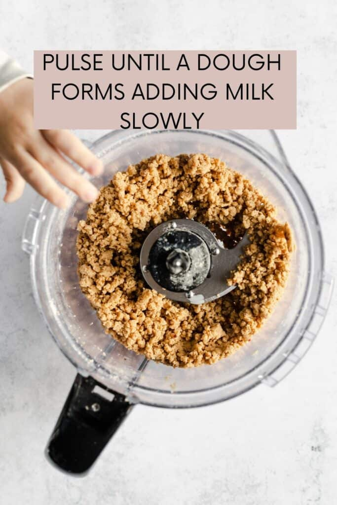 FOOD PROCESSOR BOWL AND DOUGH PROCESSED