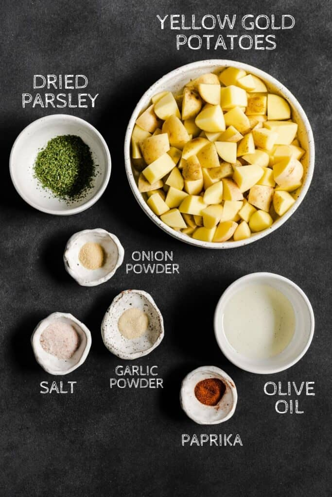 INGREDIENTS FOR RECIPE ON A BLACK BACKGROUND