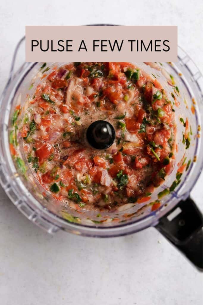 SALSA AFTER IT HAS BEEN IN FOOD PROCESSOR